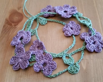 Flower Garland Head Wrap