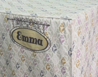 Heavy Duty Personalized Cotton Dog Crate Cover (8oz Cotton Canvas) - Machine Washable
