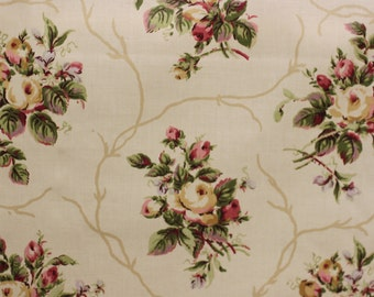 Fabric Kemberton Archive III Coll, Greeff a division of F Schumacher Fabric, Cotton chintz Fabric, Use for Bedding, Drapery, table cloth,