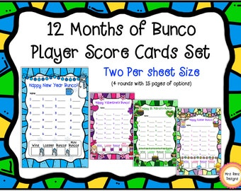 Bunco Card Sets
