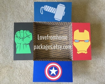 Avengers Care Package Box Flaps