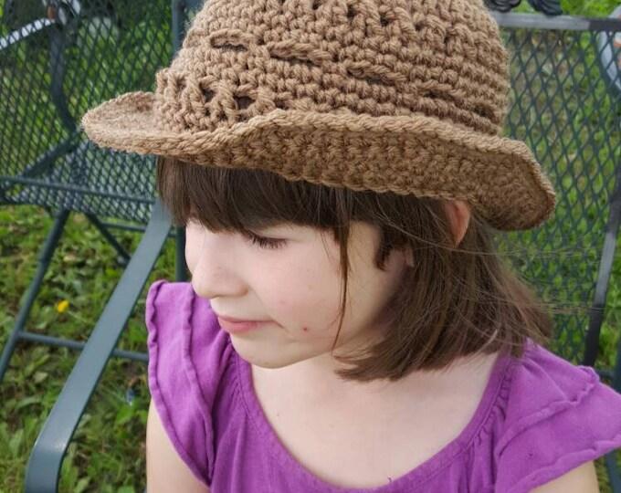 Crochet Girls Sassy Hat