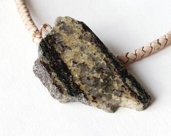 Antarctica stone pendant.