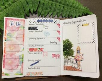 City Girl Annie Plans Pocket FIeldnotes Kit Planning Reminder Stickers - Fits Erin Condren, KikkiK, Filofax Planners & Midori Notebooks 2109