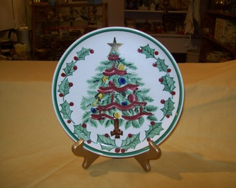 Lefton 1957 Christmas Tree Plate