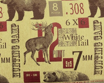 Hunting Camp Tapestry Fabric