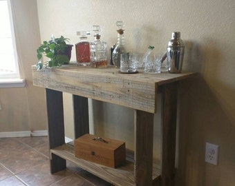 Rustic Wood Entry Way / Console Table