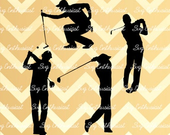 Golfer silhouette SVG, Golfer svg, Golfing svg, Golf Svg, golf cutting file, Golf, PNG, Vinyl, EPS, Dxf, Cut Files, Clip Art, Silhouette