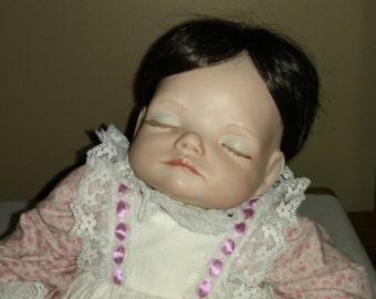 "Porcelain Life Like Joyce Wolf Girl Sculpture Baby Doll  C. 1989, ""My Princess"""