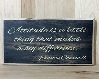 Winston Churchill wood sign quote, attitude sign, wooden custom sign,  positive quote wall decor, inspirational wall art