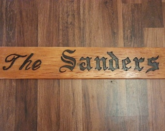 Family Name Sign Hand Carved Wood Sign Custom Wood Sign Last Name Sign Wooden Sign Personalized Wood Sign Rustic Sign Custom Wedding Sign