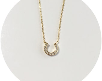 Sparkling Horseshoe Necklace