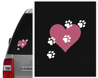 Dog Lovers Gift, Car Decal stickers,Paw Prints Decal, Car Window Decal,car window stickers,window decal,dog decal,dog stickers,student gift