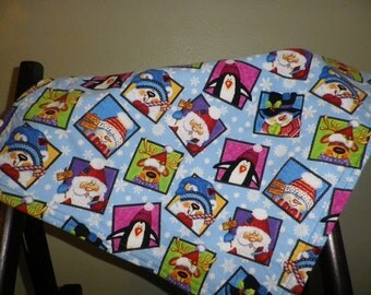 SALE - American Girl Christmas Blanket with Pillow