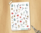 43 Watercolor Stickers for Surgery and/or Medicine - also available as Removable Stickers - perfect for Life Planners, Appointments, Study