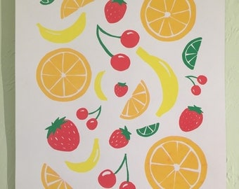 Juicy Silkscreen Print