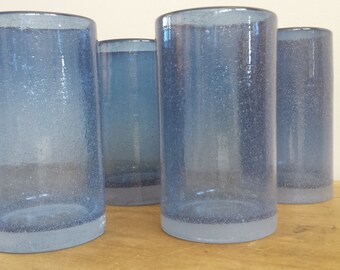 Hand Blown Drinking Glasses ~ Set of Four