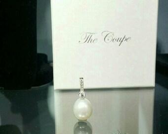 Silver CZ Pearl pendant