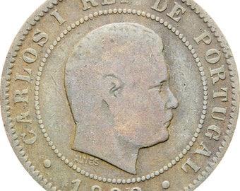 Portugal 1892 10 Reis Carlos I Coin