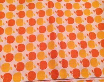 Orange Apple Fabric