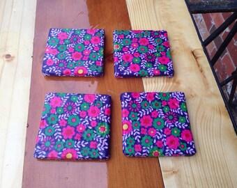 Floral Tile Coasters
