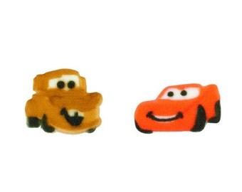 12 Disney Cars Edible Cake/ Cupcake Sugar Decorations Toppers