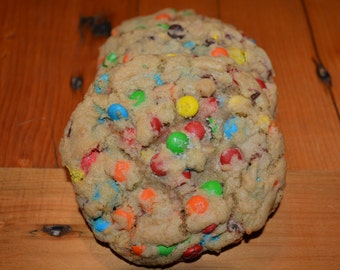 Candy Coated Chocolate Cookies- Homemade