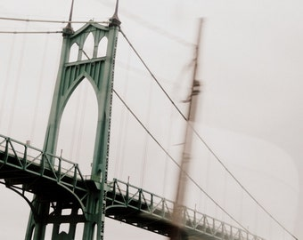 st. johns bridge oregon color photo print