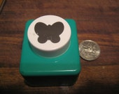 Set of Two Spring Punches: Large Butterfly Punch and Small Bunny Punch, Gently Used,  Purchased Together As Set