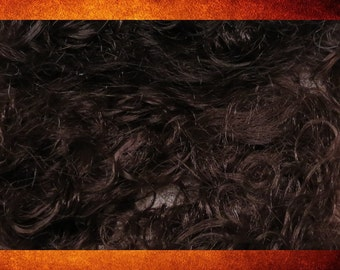 Doll Hair - Bag of Curly Dark Brown Brunette Hair for Dolls, Hairpieces, and Crafts. #DOLL-119