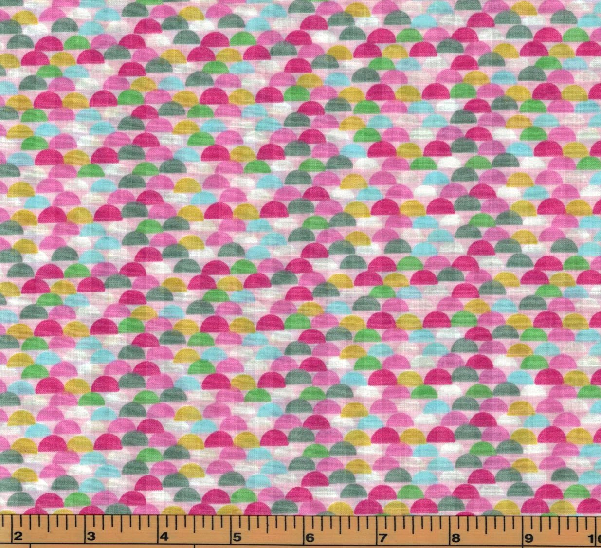 Pink half circles tweetie pie collection by galaxy for Galaxy fabric canada