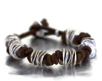 Leather bracelet, womens boho leather bracelet,  leather jewellery ,  womens leather bracelet, womens leather bracelet