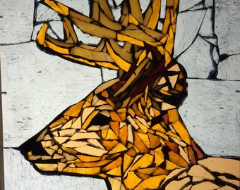 Stained Glass Mosaic Deer/Buck