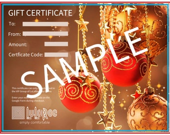 Holiday Gift Certificates - Template for Consultants (Digital) (See details in description)