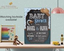 Cowboy Baby Shower Invitation / Digital Printable Baby Shower Invite / DIY Western Party
