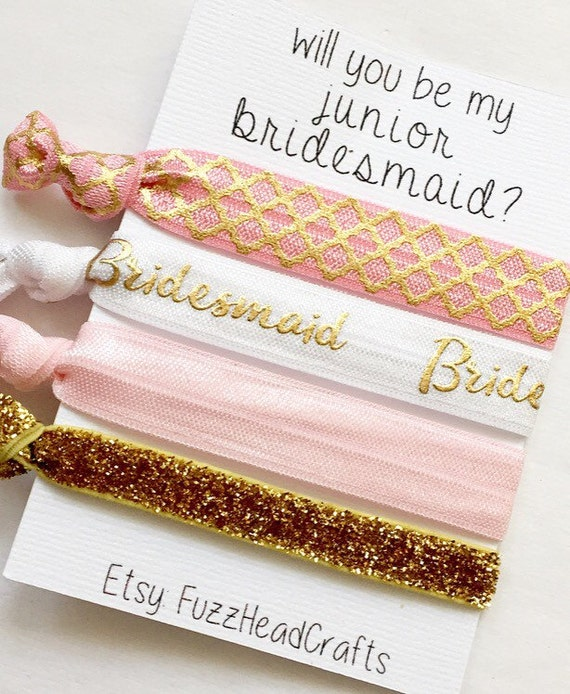 Wedding Gifts For Junior Bridesmaid : will you be my junior bridesmaid junior by FuzzHeadCrafts on Etsy