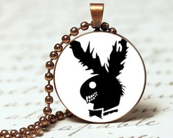 Plagueboy bunny pendant necklace, gift for her
