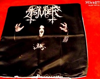 Tsjuder satanic black metal throw pillowcase
