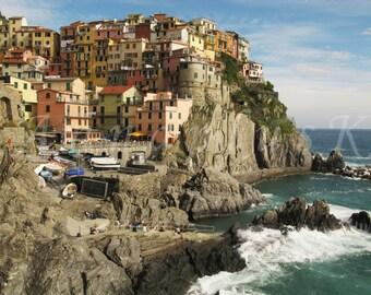 Cinque Terre photo print Italian landscape art Original Manarola art print Colorful Italian landscape