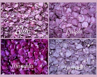 8 Cups Standard Colors Freeze Dried  Rose Petals - Rose Petals for Weddings, Flower girls, Petal Toss