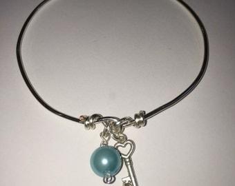 Simple Twist Wire Wrap Bangle Bracelet