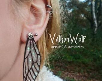 Fairy wing drop earrings