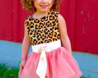Cheetah and pink princess dress
