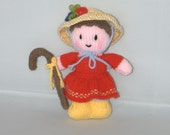 Little Bo Peep knitted doll