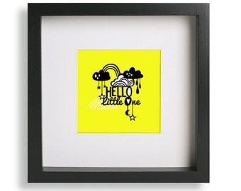 Framed Hello Little One Print