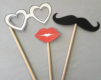 "12 count Dowel Rods (0.25"" x 12"")  DIY Wooden Photo Booth Props Tiered Crafts Mustache Mask Lips"