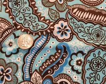 Blue and brown fat quarter.
