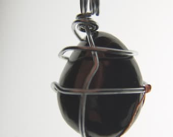 Wire Wrapped Garnet Gemstone