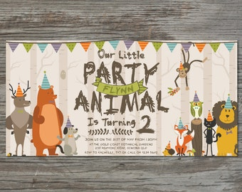 Animal Party Invitation - Customized Digital Designs