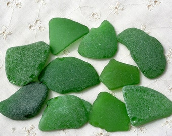 Sea Glass. Beach Glass. Green Sea Glass Natural Sea Glass. Genuine Beach Glass. Bottle Glass. For Jewelry and Crafts. From Israel